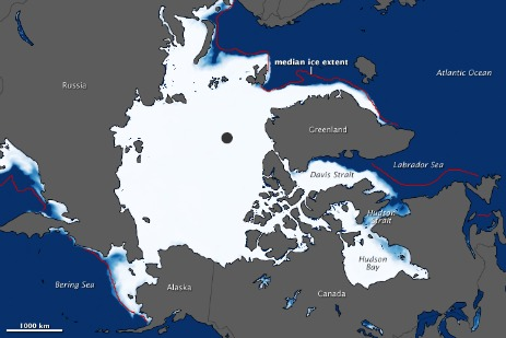 Ice melt map